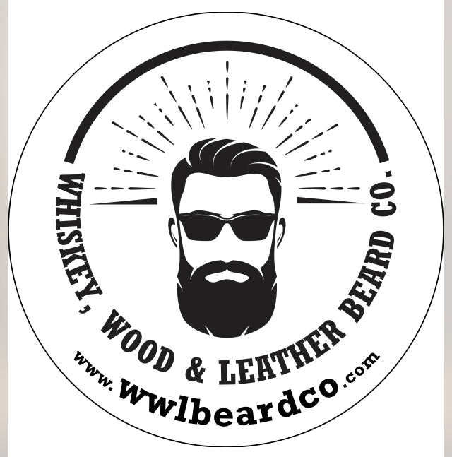 WW&L Beard Co Sticker - Whiskey, Wood & Leather Beard Company