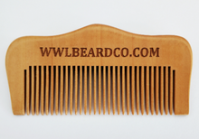 Load image into Gallery viewer, Beard Comb - Whiskey, Wood & Leather Beard Company