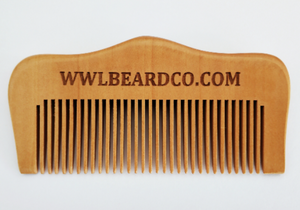 Beard Comb - Whiskey, Wood & Leather Beard Company