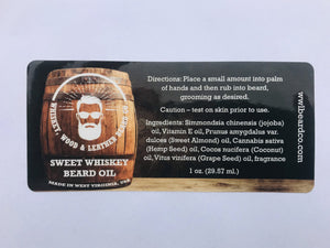 Sweet Whiskey Beard Oil