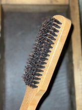 Load image into Gallery viewer, Wooden Handle Boar Hair Beard Brush - Whiskey, Wood & Leather Beard Company