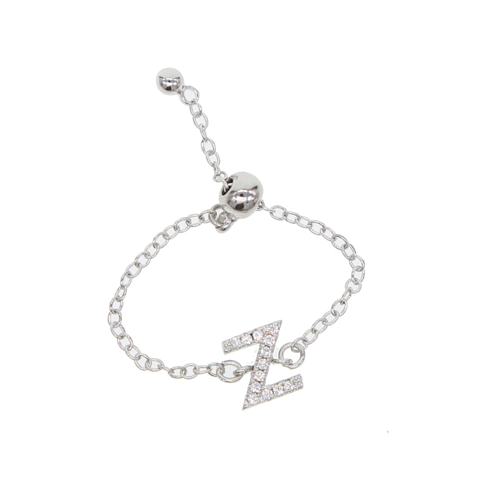 Cz Letters Top Quality Link Chain Meanning Minimal Chain Ring