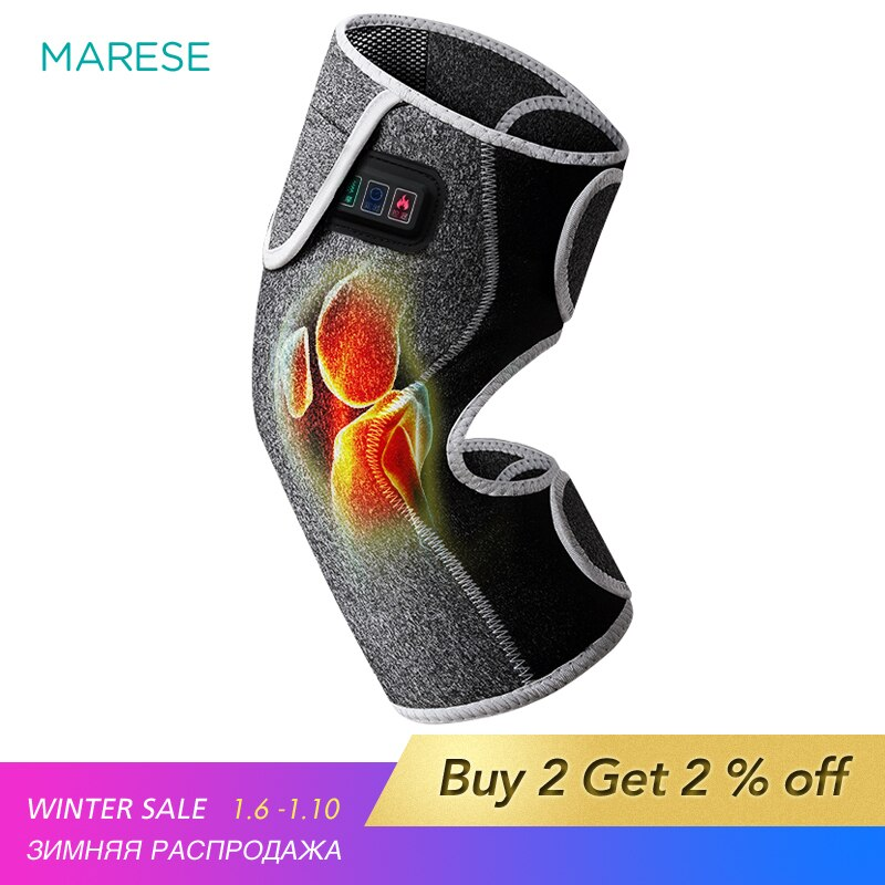 Electric Heating Vibration Massager Knee Elbow joint Arthritis Pain Relief