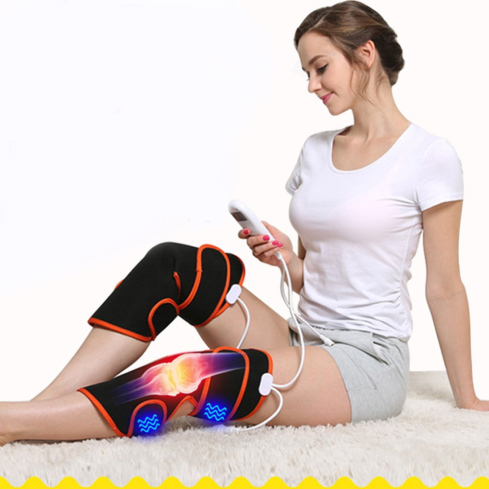 Electric Heating Knee Massager Pain Relief Vibration Massager