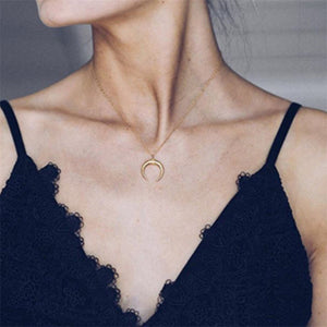 Gold Color Crystal Pendant Necklace