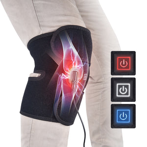 Infrared Heated Knee Brace Support Arthritis Wrap Pain Relief Massager