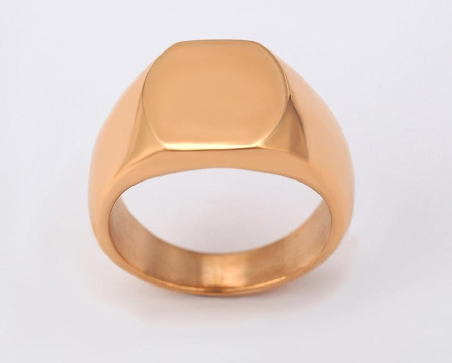 Fab's Signet 18k Gold plated Ring - Fab Collection Jewelry