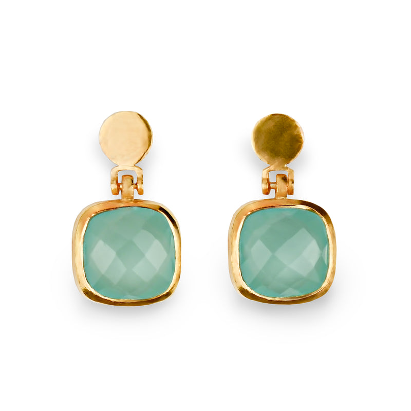 The Laguna, Gold Plated Silver Earrings - Fab Collection Jewelry