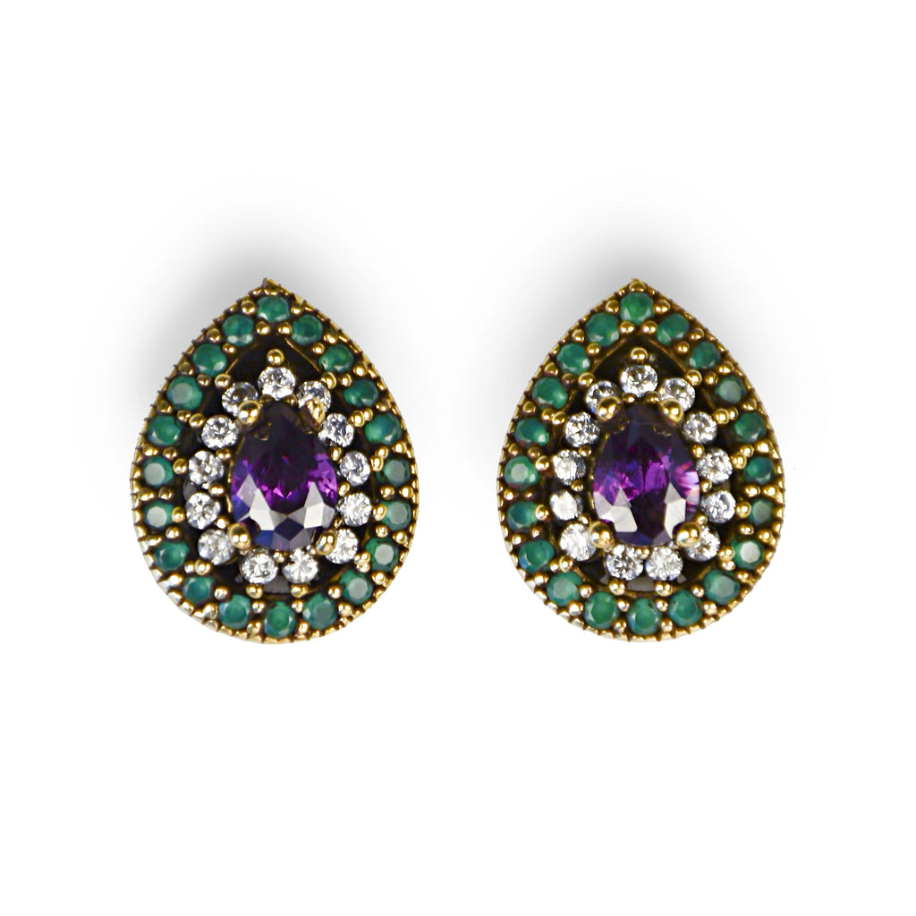 The Forbidden Fruit Stud Earrings - Fab Collection Jewelry