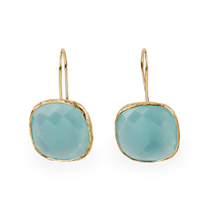 Caribbean Bliss Gold plated Silver Drop Earrings - Fab Collection Jewelry
