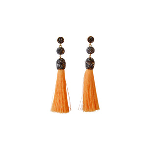 Crystal Tassel Earrings - Three Colors - Fab Collection Jewelry