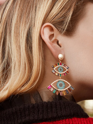 Shila Evil Eye Drop Earrings - Fab Collection Jewelry