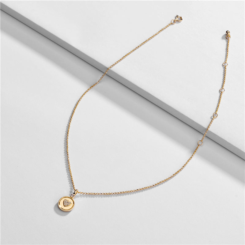 Dainty Heart Gold Necklace - Fab Collection Jewelry