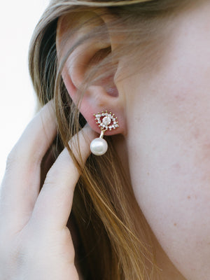Eye See No Evil Stud Earrings - Fab Collection Jewelry