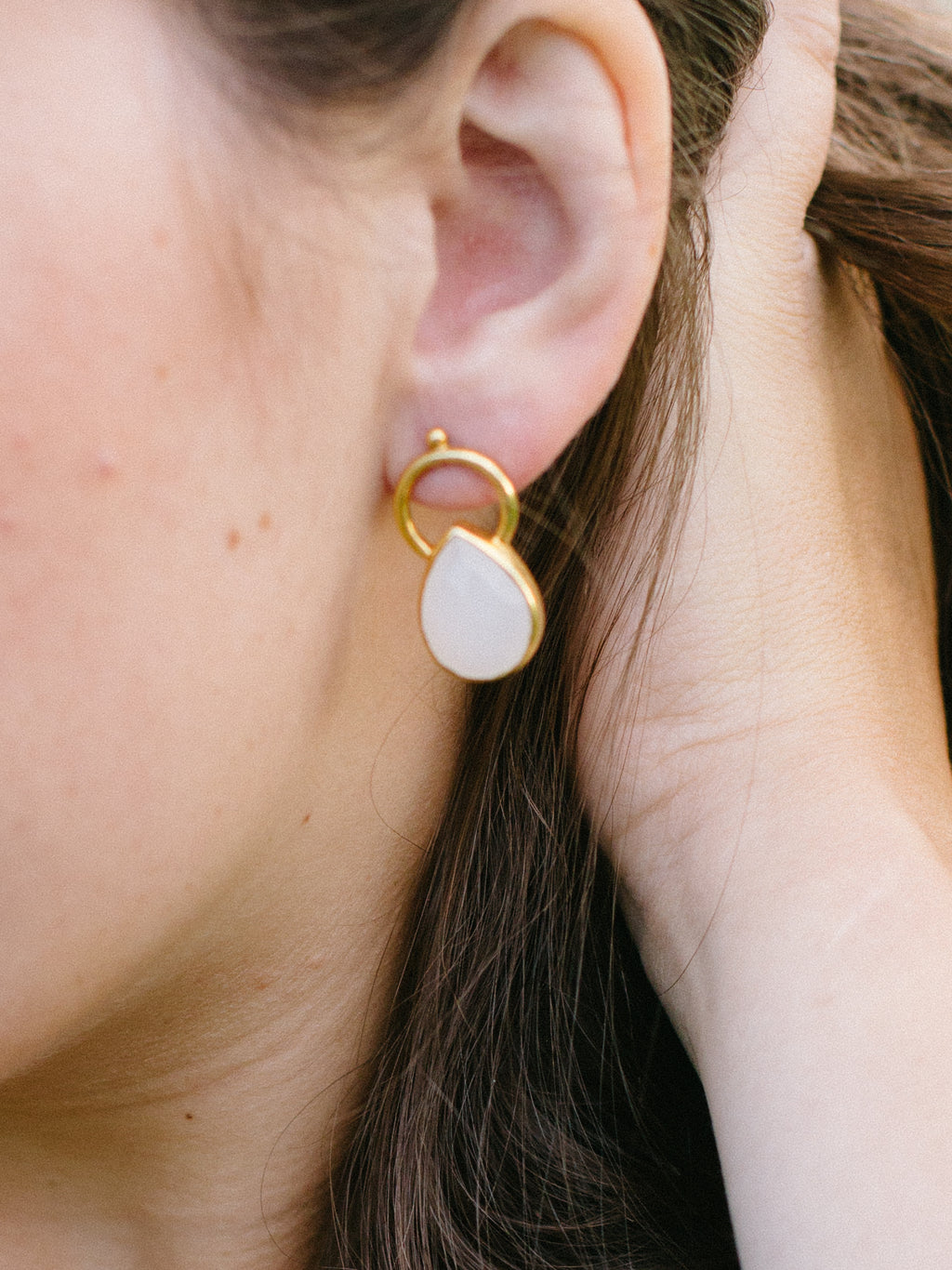 The Graduate, Gold plated Silver Earrings - Fab Collection Jewelry