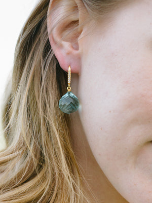 Mermaid Kiss, Green and Blue Gold plated Silver Earrings - Fab Collection Jewelry