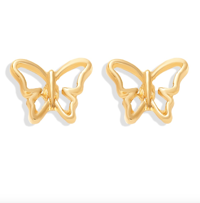 Alta Butterfly Stud Earrings - Fab Collection Jewelry