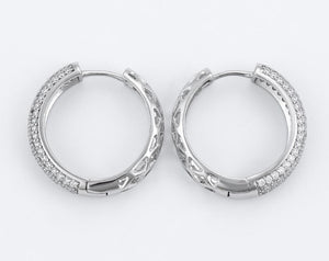 Sky Silver Crystal Hoops - Fab Collection Jewelry