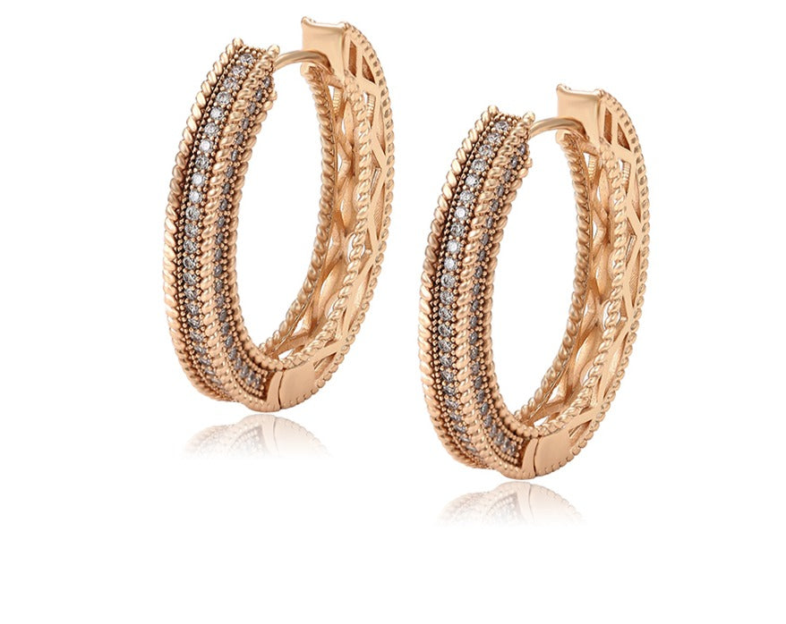 Goddess Crystal Hoops - Fab Collection Jewelry