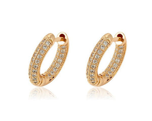 Breonna Gold Crystal Hoops - Fab Collection Jewelry