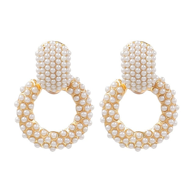 Adara Pearl Drop Earrings - Fab Collection Jewelry
