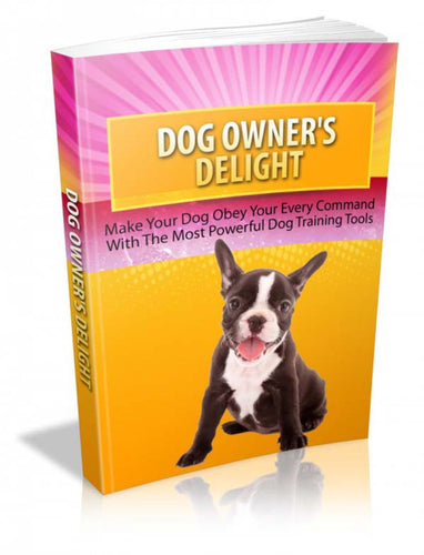 Dog Owner's Delight - owlsbooksnmore.com