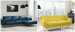 The Love For Modern Leather Section Sofa