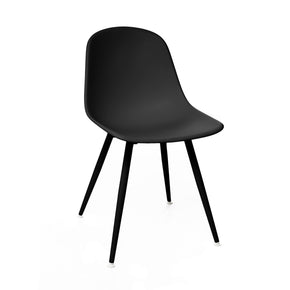 Dining Chairs - Design Lab MN LS-9443-BLKBLK Grazia Retro Black Mid Century Side Chair Black Base Original Design (Set of 4) | 655222620835 | Only $299.80. Buy today at http://www.contemporaryfurniturewarehouse.com
