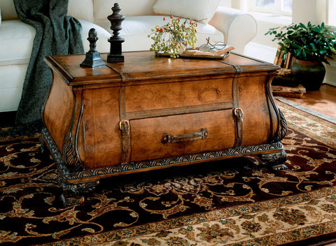Heritage Vasco Old World Map Bombe Trunk Table | Modern Coffee Table by Butler Furniture at Contemporary Modern Furniture  Warehouse - 1