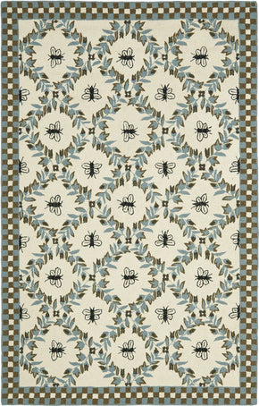 Chelsea Country & Floral Indoor Area Rug Ivory / Blue