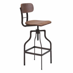 Zuo Modern 100985 Watts Bar Chair Brown & Antique Black