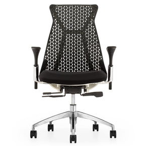 Fine Mod Imports FMI10293-BLACK Santer Office Chair Flex Back, Black