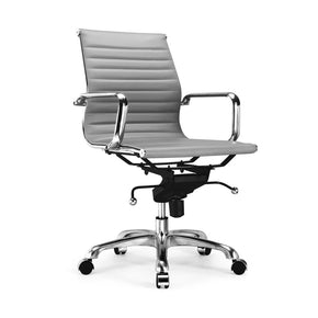 Office Chairs - Design Lab MN LS-0007-GRYCRM Century Grey Modern Classic Aluminum Office Chair (Set of 2) | 646263991275 | Only $329.80. Buy today at http://www.contemporaryfurniturewarehouse.com