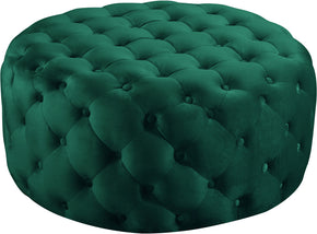 Meridian Furniture 122Green Addison Green Velvet Ottoman/Bench 647899949432
