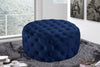 Addison Navy Velvet Ottoman/Bench