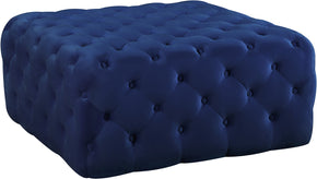 Ottomans - Meridian 123Navy Ariel Navy Velvet Ottoman/Bench | 647899949470 | Only $329.80. Buy today at http://www.contemporaryfurniturewarehouse.com