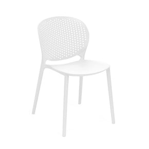 DesignLab MN LS-9603-WHT Muut White Modern Stackable Side Chair (Set of 4) 646263991060