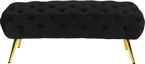 Meridian Furniture 138Black Amara Black Velvet Bench 647899951022
