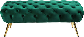 Meridian Furniture 138Green Amara Green Velvet Bench 647899952067