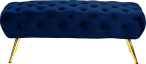 Meridian Furniture 138Navy Amara Navy Velvet Bench 647899950995