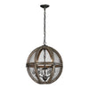 Dimond Home 140-007 Renaissance Invention Wood And Wire Chandelier - Small