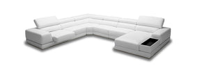 Vig Furniture VGKK1576-ECO-WHT Divani Casa Chrysanthemum - Modern White Eco-Leather Sectional Sofa