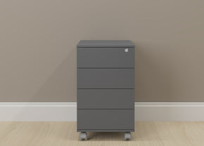 Ideaz International Graphite Wood 4-drawer Cabinet with Casters ideaz-17094GP | 841733101158| $248.80. Cabinets - . Buy today at http://www.contemporaryfurniturewarehouse.com