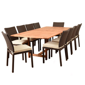 Amazonia Damian 11 Piece Rectangular Patio Dining Set