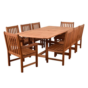 Amazonia Bristol 9 Piece Rectangular Patio Dining Set