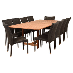 Amazonia Catania 11 Piece Rectangular Patio Dining Set