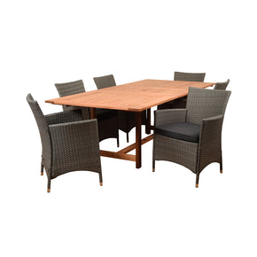 Amazonia Damian 7 Piece Rectangular Patio Dining Set