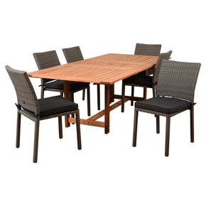 Outdoor Dining Sets - International Home Miami 542_6LIBSIDE_GR Amazonia Damian 7 Piece Rectangular Patio Dining Set | 870069007155 | Only $1264.80. Buy today at http://www.contemporaryfurniturewarehouse.com