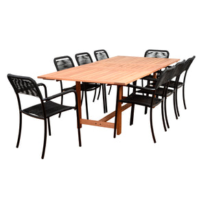 Amazonia Oosterdam 9 Piece Rectangular Patio Dining Set