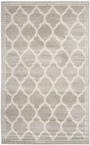 Amherst Contemporary Indoor Area Rug Light Grey / Ivory